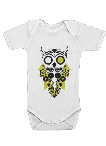 Mechanic Owl for Baby short sleeve onesies