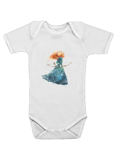 Merida Watercolor for Baby short sleeve onesies