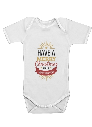 Onesies Baby Merry Christmas and happy new year