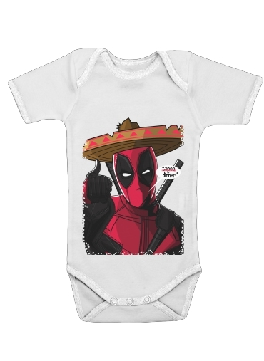 Mexican Deadpool for Baby short sleeve onesies