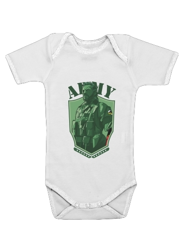 MGS Phantom Pain Army Men Big Boss Diamond Dogs  for Baby short sleeve onesies
