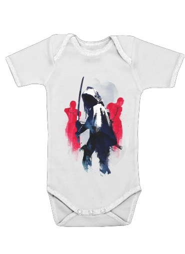 Michonne assassin for Baby short sleeve onesies