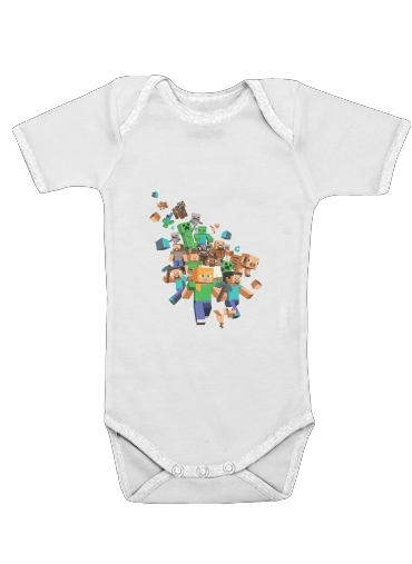 Onesies Baby Minecraft Creeper Forest
