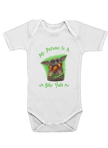 My patronus is baby yoda for Baby short sleeve onesies