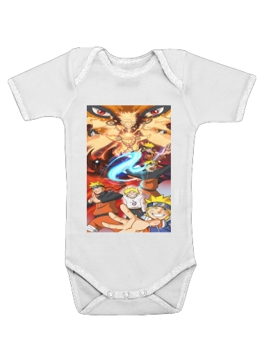 Naruto Evolution for Baby short sleeve onesies