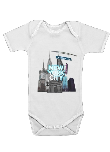 New York City II [blue] for Baby short sleeve onesies