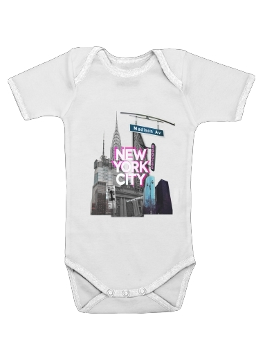 New York City II [pink] for Baby short sleeve onesies