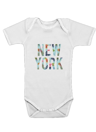 New York Floral for Baby short sleeve onesies