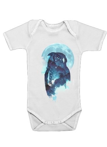 Night Owl for Baby short sleeve onesies