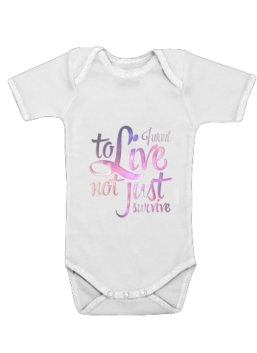 Not just survive for Baby short sleeve onesies