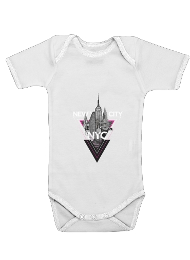 NYC V [pink] for Baby short sleeve onesies