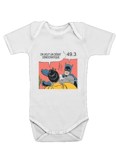 On veut un debat 493 for Baby short sleeve onesies