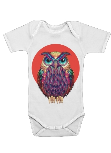Owls in space for Baby short sleeve onesies