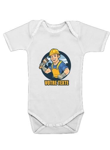 Onesies Baby painter character mascot logo