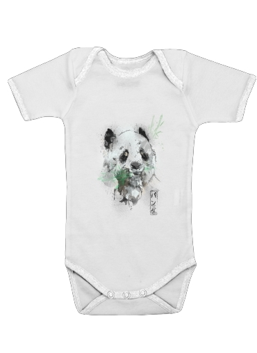 Onesies Baby Panda Watercolor