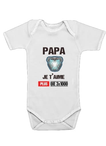Papa je taime plus que 3x1000 for Baby short sleeve onesies