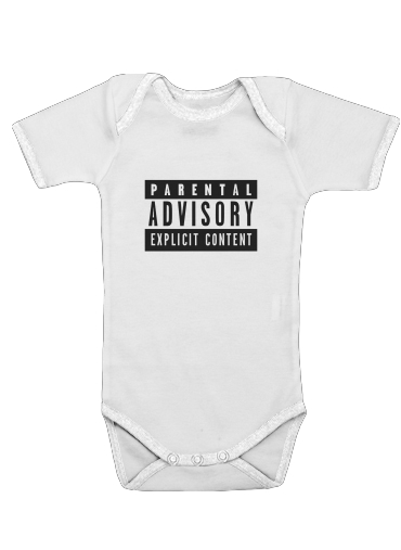 Parental Advisory Explicit Content for Baby short sleeve onesies