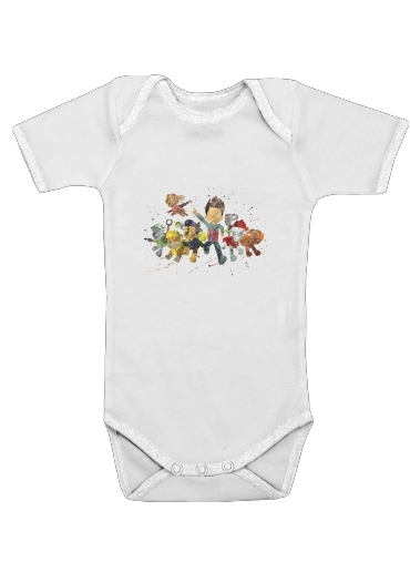 Paw Patrol Watercolor Art for Baby short sleeve onesies