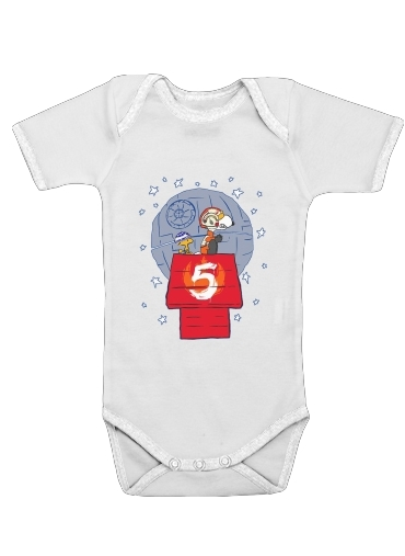 Peanut Snoopy x StarWars for Baby short sleeve onesies