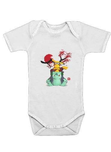 Pikachu Bulbasaur Naruto for Baby short sleeve onesies
