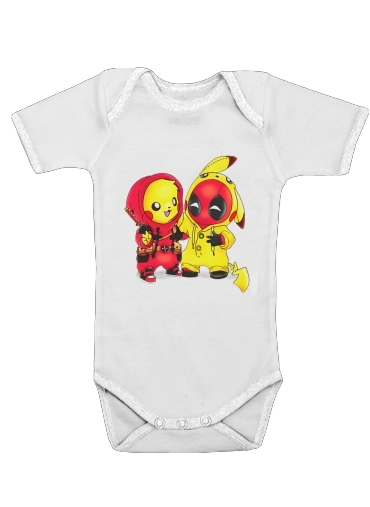 Pikachu x Deadpool for Baby short sleeve onesies