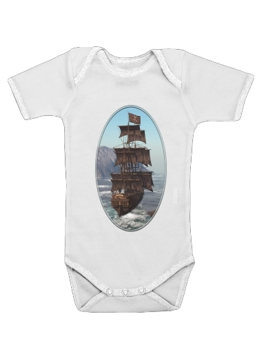 Pirate Ship 1 for Baby short sleeve onesies