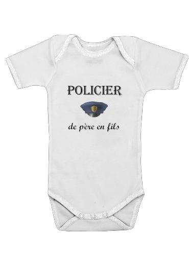 Onesies Baby Policier de pere en fils