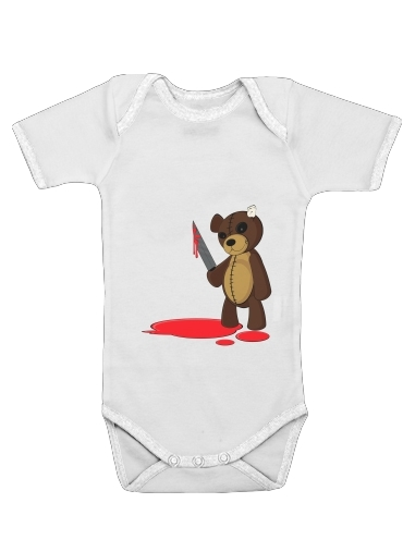 Psycho Teddy for Baby short sleeve onesies