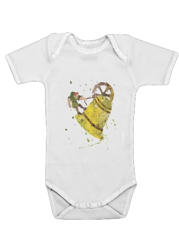 Quasimodo Bell tower Notre dame church for Baby short sleeve onesies