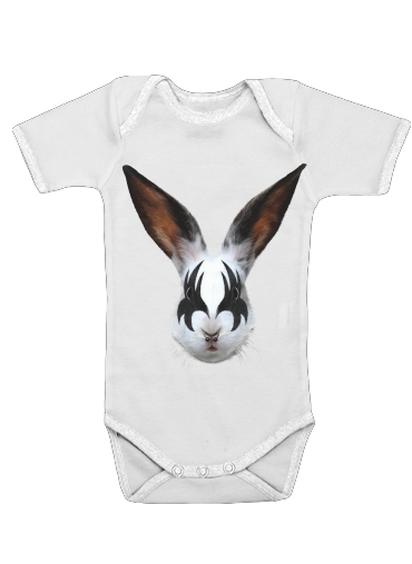 Onesies Baby Kiss of a rabbit punk