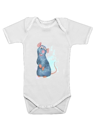 Ratatouille Watercolor for Baby short sleeve onesies