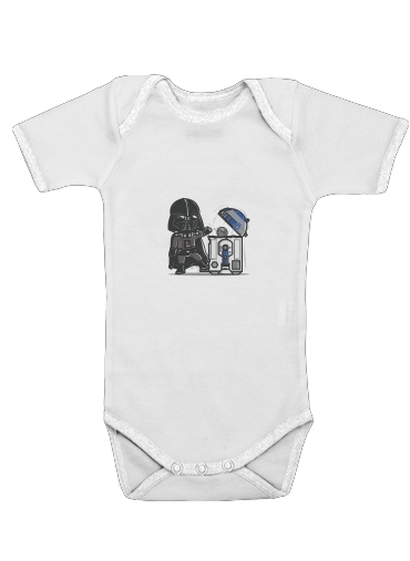 Robotic Trashcan for Baby short sleeve onesies