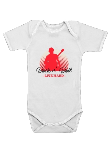 Onesies Baby Rock N Roll Live hard