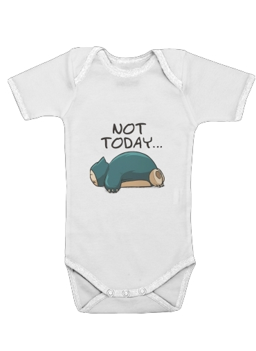 Ronflex Not Today pokemon for Baby short sleeve onesies