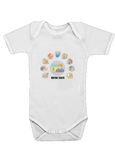 Onesies Baby Roofer Logo custom text