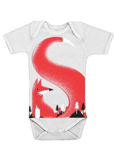 S like Fox for Baby short sleeve onesies