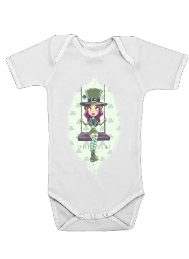Saint Patrick's Girl for Baby short sleeve onesies