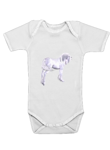 Silver Unicorn for Baby short sleeve onesies
