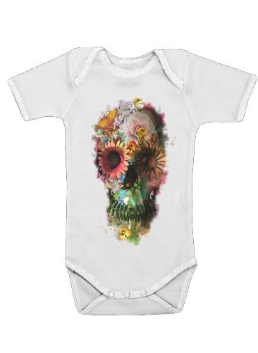 Skull Flowers Gardening for Baby short sleeve onesies