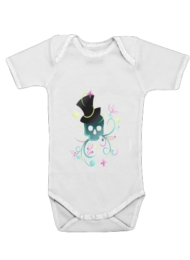 Onesies Baby Skull Pop Art Disco