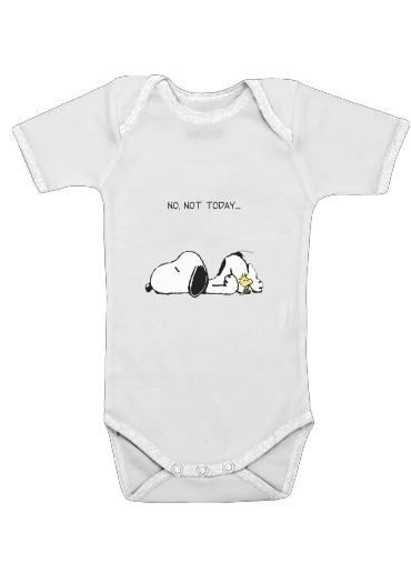 Snoopy No Not Today for Baby short sleeve onesies