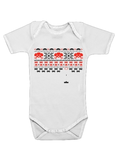 Space Invaders for Baby short sleeve onesies