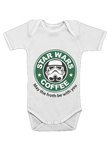 Onesies Baby Stormtrooper Coffee inspired by StarWars