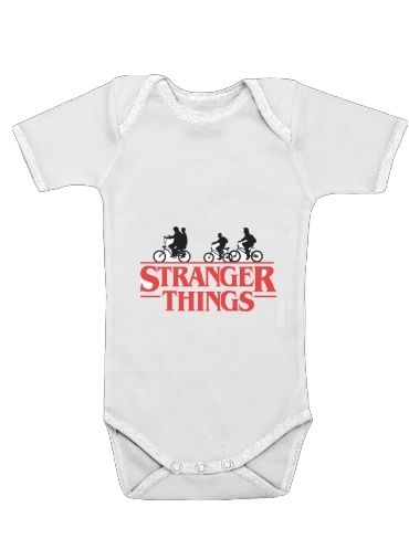 Stranger Things by bike for Baby short sleeve onesies