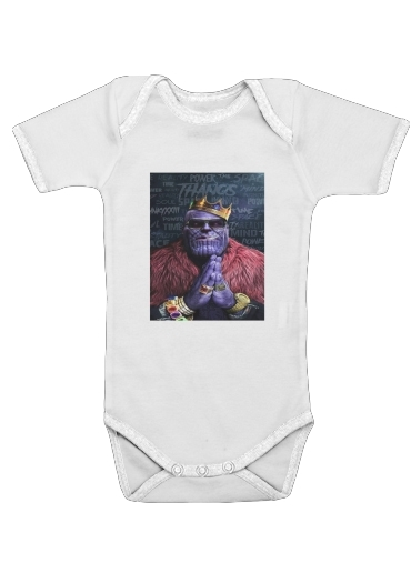 Thanos mashup Notorious BIG for Baby short sleeve onesies