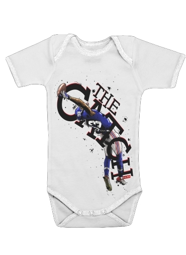 The Catch NY Giants for Baby short sleeve onesies