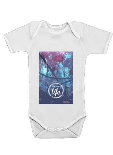 the jungle life for Baby short sleeve onesies