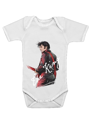 The King Presley for Baby short sleeve onesies