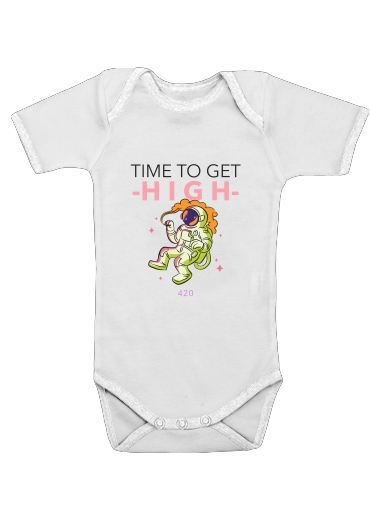 Onesies Baby Time to get high WEED