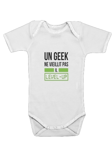 Onesies Baby Un Geek ne vieillit pas il level up